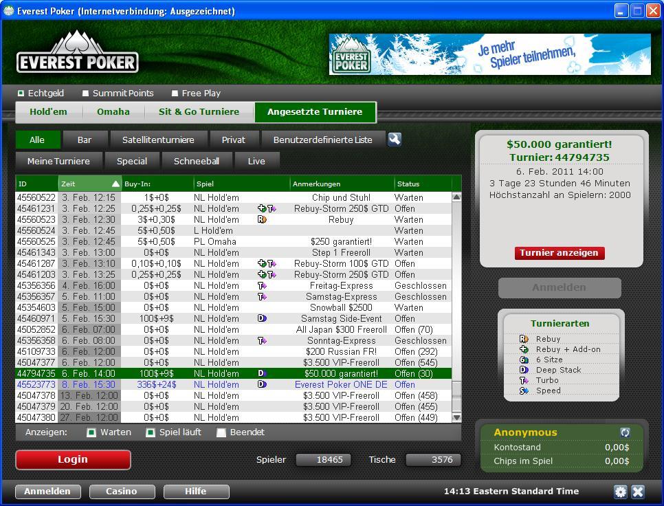 everest poker für mac
